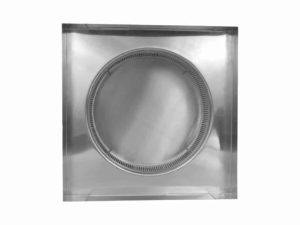 Static Vent Round Back with Curb Mount Flange rbv-12-c2-cmf-bottom