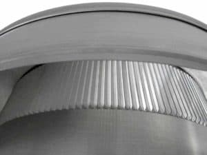 Static Vent Round Back with Curb Mount Flange rbv-12-c2-cmf-louvers