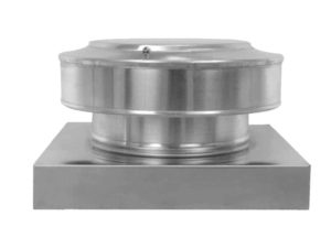 Static Vent Round Back with Curb Mount Flange rbv-8-c2-cmf-side