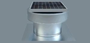 Solar Attic Fans - Round Back Solar Fan