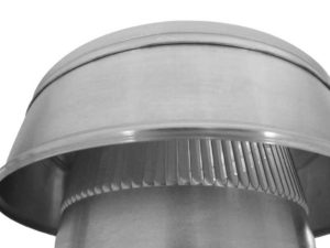 Static Vent Round Back with Curb Mount Flange rbv-6-c2-cmf-louvers