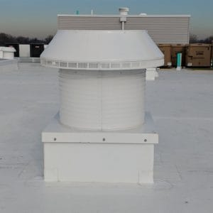 Quick And Easy Flat Roof Ventilation - Our Pop Vent With Curb Mount Flange On A Roof Curb