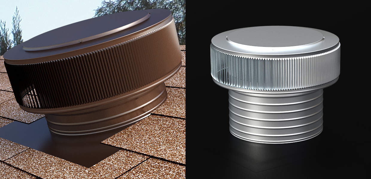 Our Roof Louver, The Pop Vent for Exhaust Painted Brown