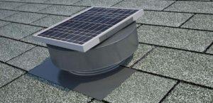 Solar Roof Exhaust Fan Painted Weatherwood