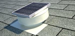 Round Back Solar Fan in White