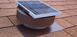 Round Back Solar Fan in Brown