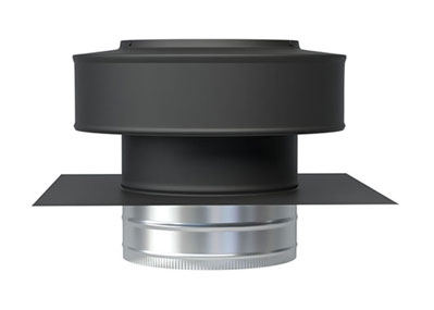 Round Back Roof Jack Shown in Black