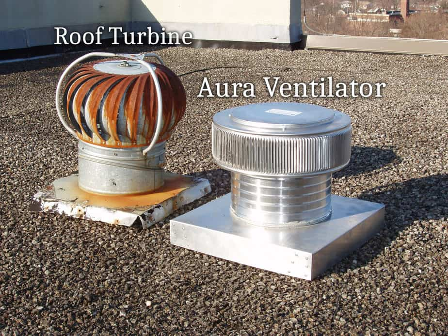 Roof Mounted Wind Turbine versus the Aura Gravity Ventilator