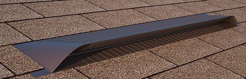 Brown Dormer Vent / Universal Vent on Shingle Roof