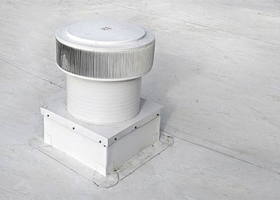 Commercial Aura Vent with Curb Mount Flange installed