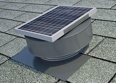 Round back Solar Attic Fan