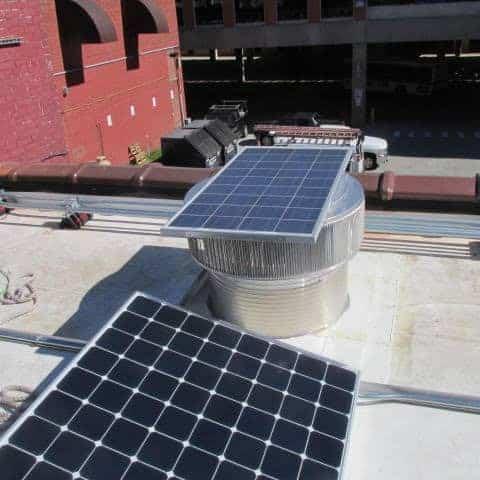 Aura Solar Powered Fans installed in Rutland VT