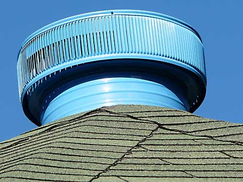 Blue Aura Vent Installed On A Roof In The Caribbean - Highly Recommended