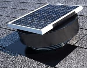 Solar Roof Exhaust Fan Painted Black
