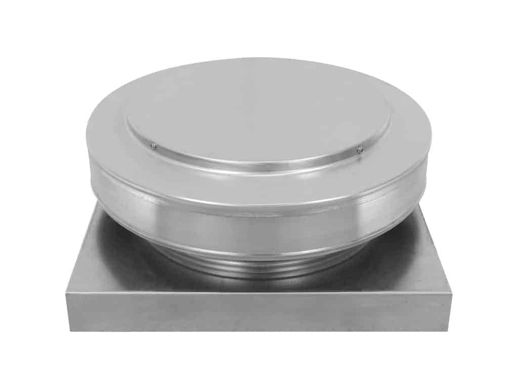 Round Back Static Vent with a Curb Mount Flange