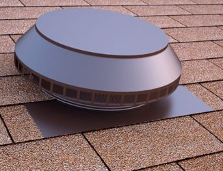 Roof Louver in brown for roof exhaust