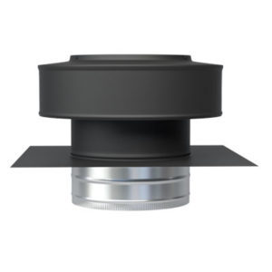 Residential Roof Jack Vent Cap in Black