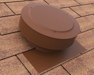 Static Vent in brown on a shingle roof