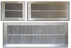 Group of soffit vents, width of 10in.