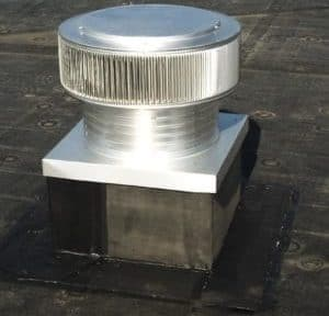Commercial Gravity Ventilator Exhaust with Curb Mount Flange