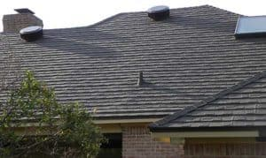 quality roof vents on a metal shingle install