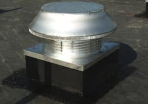 Commercial Roof Louver Air Intake with Curb Mount Flange