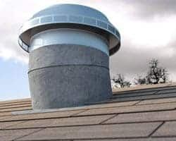 Roof Louver Retrofit on an old roof turbine base