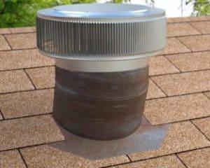 Gravity Ventilator Retrofit on old roof turbine base