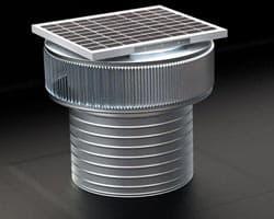Solar Attic Fans - Aura Solar Fan on Commercial Flat Roof