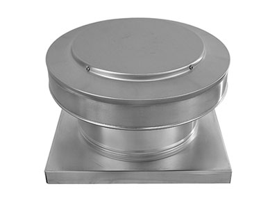Round Back Roof Vent with Curb Mount Flange