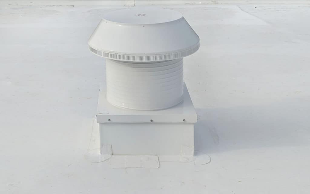 Commercial Pop Vent with Curb Mount Flange